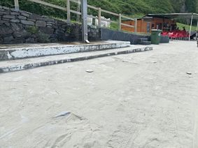 Duchas playa de Salinas