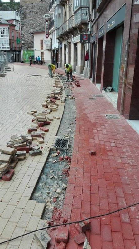 obras plaza Alfonso X el Sabio